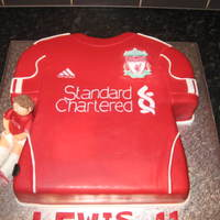 Liverpool Shirt Birthday Cake