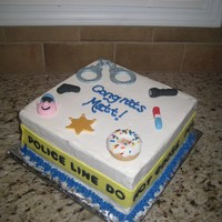 Lea Grad Cake I made this cake for my little brother's graduation from the Law Enforcement Academy. It was a disaster! It was originally covered...