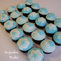Aqua Blue Fun Aqua blue and white cupcakes, made for a client's sister wedding shower. She wanted fun and cheery!