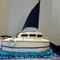 Sailboat Cake I made this cake for a friend of mine who's boyfriend's birthday was in June. She gave me a picture of his actual sailboat the...