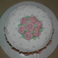 First Cake Rose Cake I made this cake while taking the Wilton Course 1 class.