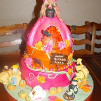Barbies Pumpkin Patch Newest cake I made for a friend who is having a barbie themed birthday party in a pumpkin patch. Creme brulee with dulce de leche and...