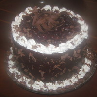 Black Forest Brandy Cake Black Forest cake-chocolate cake brushed with cherry brandy simple syrup, filled with cherry brandy cream and a thick cherry filling....