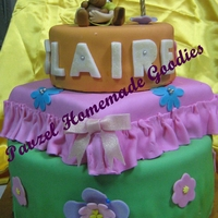 Little Girl With Teddy I made this for my niece's first birthday. A 3-tiered butter cake with choco fudge filling and fondant icing. Everything, except the...
