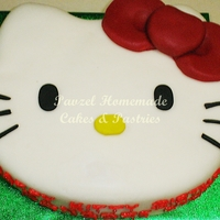Hello Kitty Birthday Rich Chocolate Cake covered with Fondant Icing