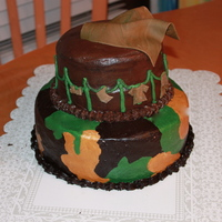 Camouflage Baby Shower Cake A friend of my moms is having a baby with her new husband and he loves Camo, so I thought this cake would be perfect for them :) They loved...