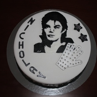 Michael Jackson Cake MJ is made of marsipan and RI