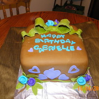 I Hate Brown Fondant...lol My daughter's favorite colors all put together. :) I really hate working w/brown and black fondant. Any pointers are much appreciated...