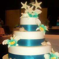 Sea Shell Wedding Cake This theme is popular in our area at the moment!!!!!