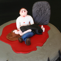 Vampire Cake Carrot cake with cream cheese frosting. Accents and figures are fondant.