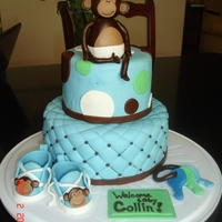 Monkey Baby Shower Cake I was inspired by yet another one of you fabulous decorators to make this cake for a good friend's baby shower. Thank you fellow CC...
