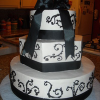 Black And White With Ribbon