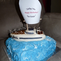 Birthday Boat Cake Boat cake for my brother's 40th. Inspired by so many here on CC -- thank you!