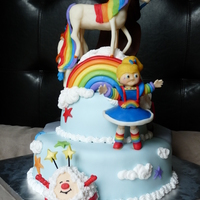 Rainbow Brite & Star Wars Cake Rainbow Brite & Star Wars theme cake for a joint birthday party. * Please see my other photos for pictures of the Star Wars side.* All...
