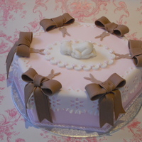 Pink And Brown Baby Cake