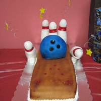 Bowling Alley Birthday Cake Bowling Alley Birthday Cake for 5 year old's bowling party