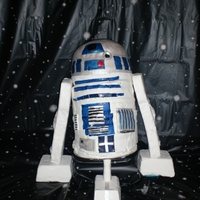 R2 D2 Cake for Star Wars-themed birthday party