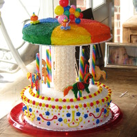 Carousel Cake Carousel cake for carnival-themed birthday party