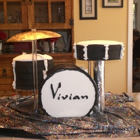 Drum Kit Cake Drum kit cake for a rock star birthday party