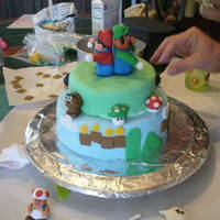 Mario B-Day Cake For My 7 Year Old First time I have ever used fondant