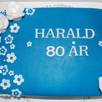 Harald 80 Years On the small photo is say`s: Worlds best grandfather!