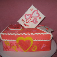Remember When... This cake was to remind us of those years when we all made valentine boxes at school and all the joy it brought us.