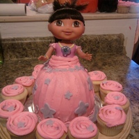 Dora The Explorer Dora the Explorer mermaid doll cake.