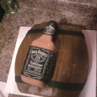 Jack Daniels Cake Jack Daniels bottle and barrel. All chocolate
