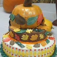 3 Tier Pumpkin Cake