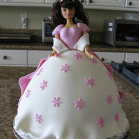 Princess Barbie Doll Cake I made this for my grand niece's 3rd birthday party. The look in her eyes when she saw the cake was priceless.