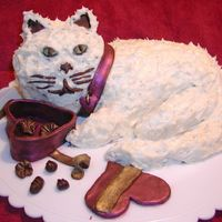 Fat Cat Valentine's Day Cake A chocolate-orange cake covered in butter cream with chocolates box, collar etc. made from modeling chocolate.