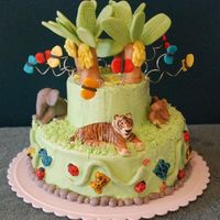 Jungle Cake I made this jungle themed cake out of chocolate-orange cake with butter cream frosting. All of the figures i made out of modeling chocolate...