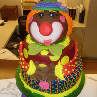"Clown Cake African American Clown cake... by special request from the birthday ""boy"""