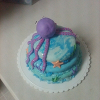 Octopus   this cake was made for an 8 year old. she loved it