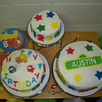 Sesame Street First Birthday Cake  This was my first attempt at making a cake. It was for my son's first birthday so it was important to me that it be made by me. I had...