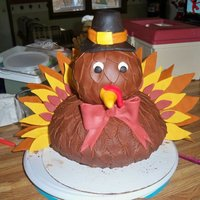 Timmy The Turkey This was a cake I made for the youth Thanksgiving dinner at my church. I made the turkey out of a half ball pan. I had originally used two...