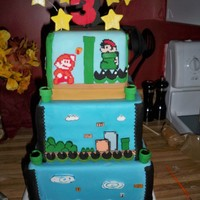 Mario Bros 3 Cake  This is a dummy cake that I made for the local fair here. It was inspired by Super Mario Bros 3 for the original Nintendo. It is all...
