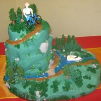 Hiking, Outdoor Cake