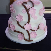 Cherry Blossom Branch My first wedding cake ... very exciting. I did this cake for a friend who wanted the ever popular Cherry Blossom Branch. The tiers are 10...