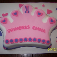 Princess 1St Birthday First birthday cake. Client wanted me to use the Wilton Crown shape cake pan. I also made cupcakes and a smash cake to match. All are...