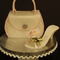 Bridal Handbag And Shoe Cake