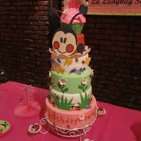 Lady Bug Cake every single thing you see here are made by us