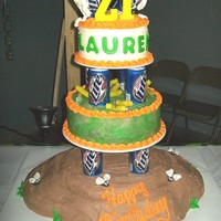 21St Birthday Bash this cake was made for a 21st big birthday bash for a country girl that really like to party, shoot shotguns, drink beer, and pick up dry...