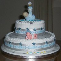 Adelle's Baby Shower Cake Baby Shower cake for my expected grandson