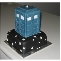 Tardis Cake My OH is a huge Dr Who fan so i thought i would try and make him a tardis. I got this idea from Elise (thanks Elise ) though mine didn&#039...