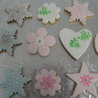 Fondant Cookies  hi allThese are NFSC with fondant. I was just playing with a couple of techniques. I admire anyone who can stencil onto a cookie. It is...