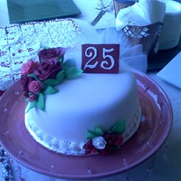 My Parents 25Th Wedding Anniversary Cake This was my first cake that I attempted to make, it tured out really well.