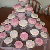 Wedding Cup Cakes our first wedding cup cake order.. variety of mud cakes with butter cream frosting...made by Tracey and jennifer