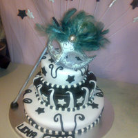 Engagement Cake 3 teir chocolate mud with Italian butter cream and fondant made by Tracey