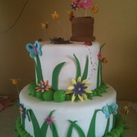 Spring Birthday Cake Made this for my Grandmother's Spring themed birthday party. Got inspiration from a few cakes on this site :) Inside tiers - gluten...